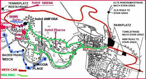 Hvar town map - or how to reach us