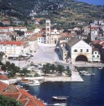 Croatia Hvar-Main square & cathedral
