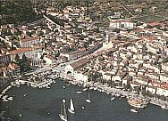 Hvar Croatia-Town centre from air